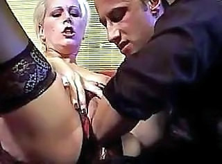 Lusty MILF in black stockings still enjoys the hard fucking
