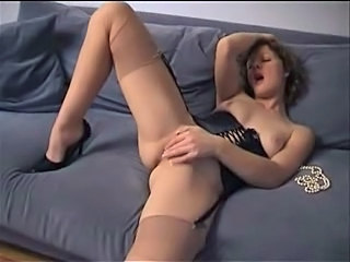 Orgasm Solo Masturbating Stockings Corset Corset Masturbating Orgasm Nylon Orgasm Masturbating Stockings
