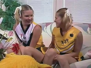 Pigtail Cheerleader Threesome Cheerleader