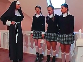 Nun School Pigtail Skirt Schoolgirl