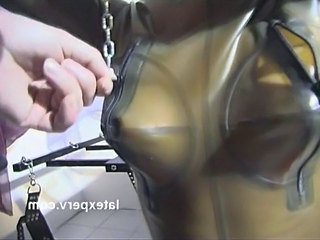 Fetish Latex Mask Tied