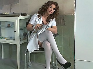 Prison Doctor Brunette European Son Stockings