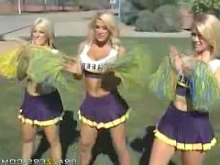 Amazing Blonde Cheerleader Outdoor Skirt Uniform Cheerleader Outdoor Outdoor Busty