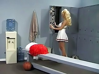 Cheerleader Blonde  Skirt Uniform Cheerleader