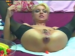 Gaping Insertion Stockings Solo Ass Blonde Pussy Gaping Insertion Stockings