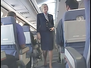 Uniform Blonde Handjob Stewardess