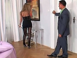 Long Legged Mistress In Pantyhos...