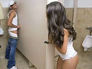 Gloryhole Long Hair Caught