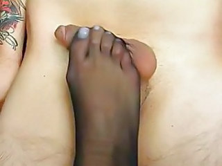 Feet Foot Footjob Nylon