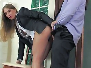 Hardcore Secretary Clothed Office Boss Office Pussy