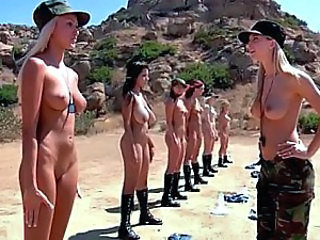 Army Natural European Lesbian Outdoor Amazing European Outdoor