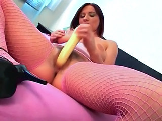 Dildo Fishnet Hairy Masturbating Solo Toy Fishnet Hairy Masturbating Masturbating Toy Toy Masturbating