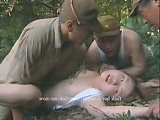 Army Asian Forced Forced Gangbang Asian Outdoor