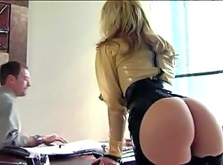 Office Latex Ass Blonde  Pornstar Secretary Milf Ass Milf Office Office Milf