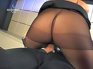 Pantyhose Ass Riding Nylon Pantyhose