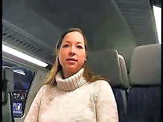 Busty Girl Gives Bj On A Train