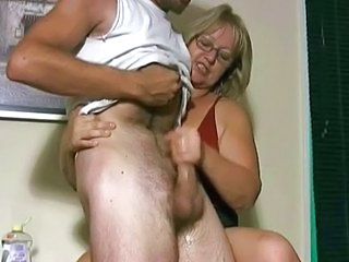 Mature Jerking Young Boy