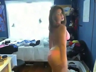 Busty Webcam Babe Stripping