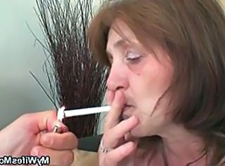 Mature Smoking Mother