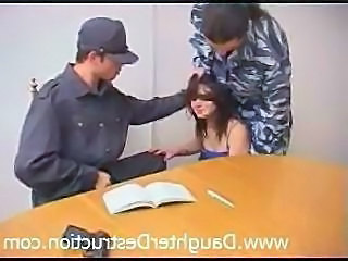 Army Brunette Hardcore Abuse Brutal Bus + Teen