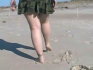 Beach Army Legs Flashing Flashing Pussy Outdoor