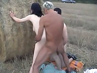Farm Doggystyle Hardcore Farm Outdoor Threesome Hardcore