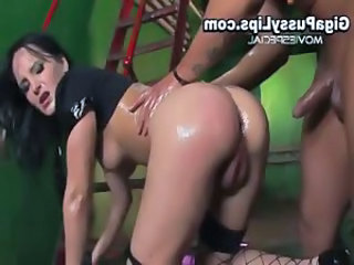 Slut with massive pussy lips gets enormous part4