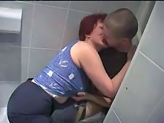 Mature Toilet Kissing  Mom Son Old And Young