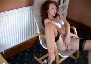 redheaded milf in retro underware
