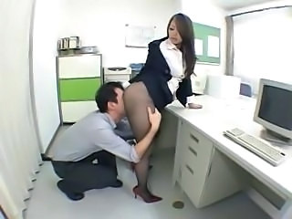 Secretary Office Pantyhose Asian Babe Babe Panty Boss