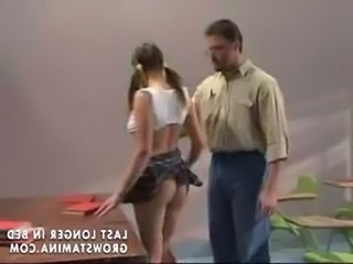 Pigtail Ass School Pigtail Teen Punish School Teacher