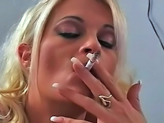 Smoking Blonde MILF