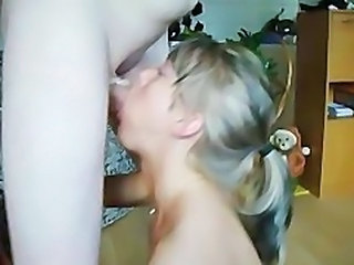 Great threesome sex with gagging