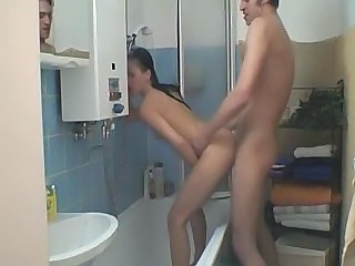 Horny Girlfriend Fucked In The Bathroom