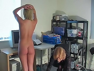 Pain Spanking Office Office Teen