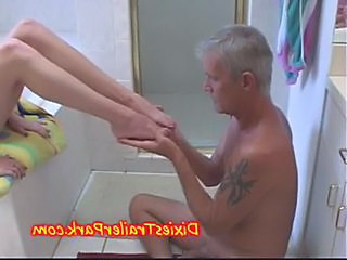 Feet Daddy Bathroom Bathroom Bathroom Teen Dad Teen