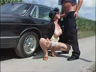 Mature German Car Blowjob Mature Car Blowjob German Blowjob