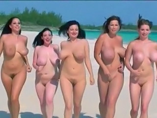 Beach Funny Nudist Babe Big Tits Babe Outdoor Beach Nudist