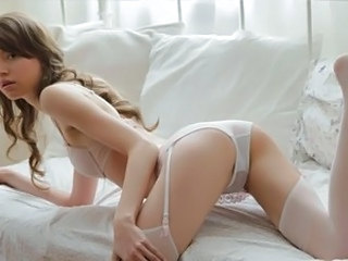 Stockings Lingerie Babe Babe Masturbating Beautiful Teen Cute Masturbating