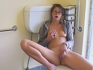 Toilet Glasses Masturbating Cute Ass Milf Ass