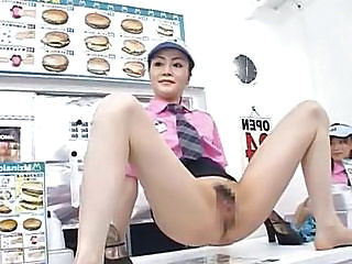 Horny Asian Doll Has Dirty In The Store