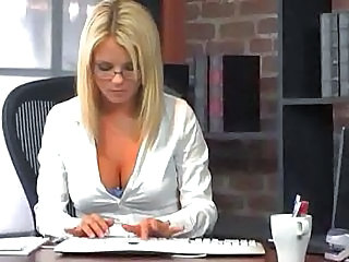 Secretary Glasses Office Babe Ass Cute Ass Cute Blonde