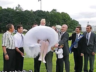 Bride Upskirt Wedding Upskirt Wife Homemade Short Hair