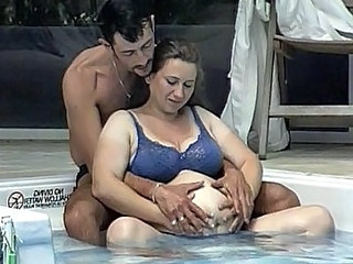 Pregnant pool side fuck