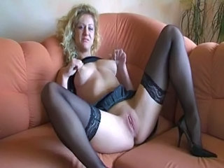 Shaved Masturbating Solo Dirty German Amateur German Milf