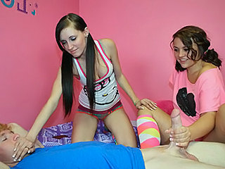 Kaci and Ashley Jerk Job