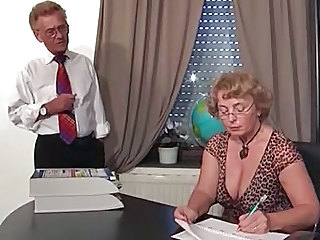 Mature Secretary Office Boss Glasses Mature Mature Ass