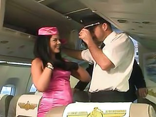 Sexy Stewardess In Pink