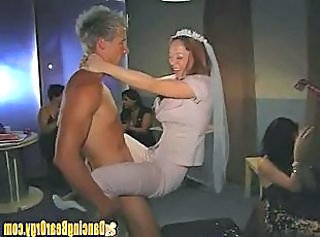 Bride to be Fucks Stripper in Back Room