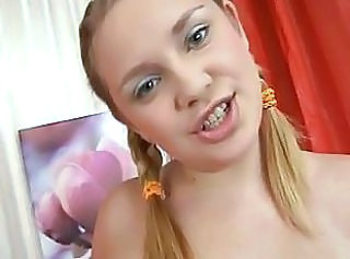 Videos from: sunporno | Chubby teen gets her mouth and pussy drilled hard